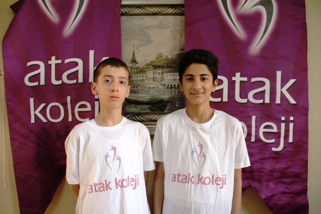 Atak kolejinden TEOG sınavında iki Türkiye birincisi