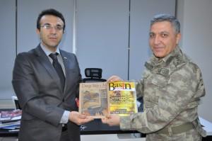 Alay Komutanı Karsavuran'dan Basın İlan Kurumuna ziyaret