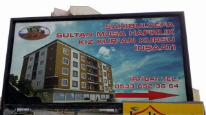 Bölgenin en modern Kur'an kursu inşaatı devam ediyor.