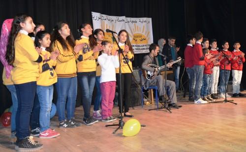Suriyeli çocuklar için moral etkinliği