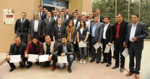 Girişimcilik kursunu tamamlayan gençlere sertifika