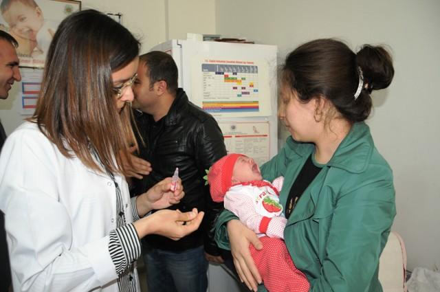 Çocuk felci aşı kampanyası başladı