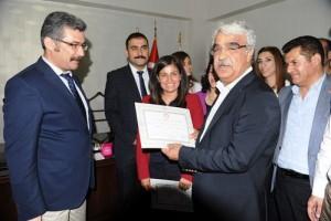 HDP Mardin Milletvekilleri mazbatalarını aldı