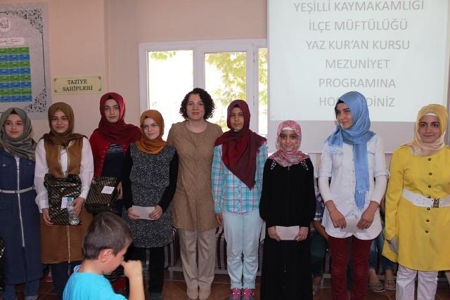 Kur'an kursu öğrencileri ödüllendirildi