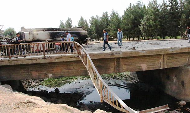 Nusaybin'de Ahmet Kaya Köprüsü'nü havaya uçurmak istediler