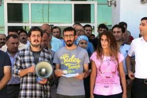 Nusaybin'de KESK Platformu'ndan tutuklama protestosu
