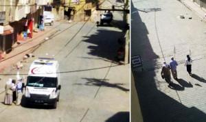 Nusaybin'de diyaliz hastaları beyaz bayrakla ambulansa gitti