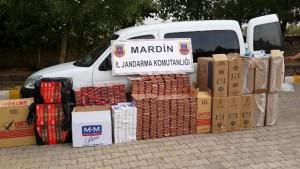 75 bin TL değerinde kaçak sigara yakaladı