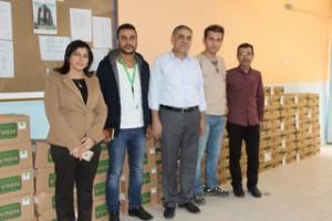 Alman Welt Hilfe Derneği'nden Suriyeliler okuluna yardım