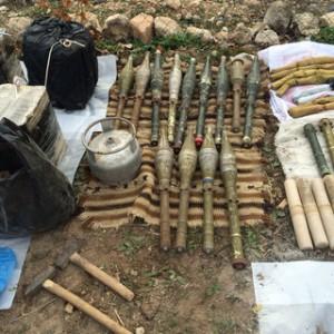 Dargeçit'te 2 bin kilogram patlayıcı ele geçirildi