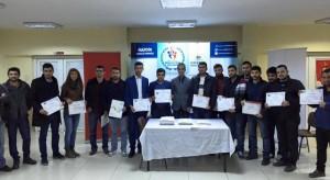 Genç girişimcilere sertifikaları verildi