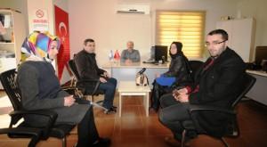 AK Partili gençlerden AA'ya ziyaret