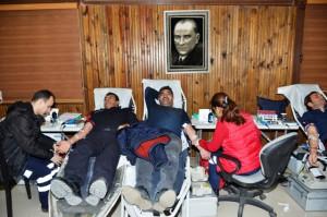 Polisten kan bağışı