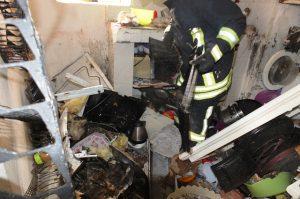 Artuklu'da mutfak tüpü patladı: 1 yaralı