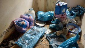 Teröristlerin patlayıcı imalathanesi imha edildi