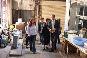 Tarihi Çarşıların restorasyonu için saha çalışması