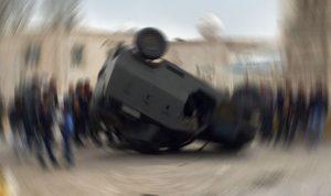 Askeri araç devrildi: 8 asker yaralı