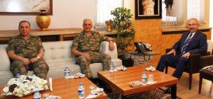 Korgeneral Yılmaz'dan Vali Yaman'a Ziyaret