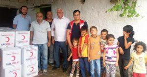 Kızılay'dan Bilge Köyüne Gıda Yardımı