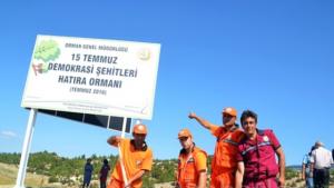 """""""15 Temmuz Demokrasi  Şehitleri Hatıra  Ormanı"""" oluşturuldu"""