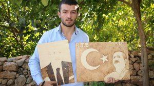 15 Temmuz gecesi Erdoğan'dan etkilendi, portresini yaptı