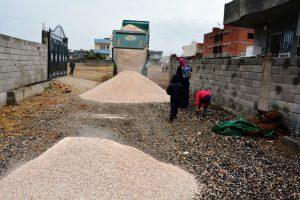 Nusaybin'de yol çalışması hızlandırıldı