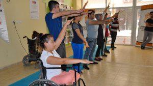 Engelliler savunma sporu öğreniyor