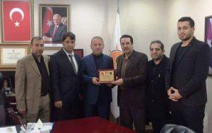 Mardin Spor Kulübü'nden AK Partiye teşekkür ziyareti