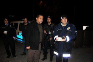Nöbet tutan polislere çorba ikramı