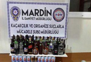 Bandrolsüz içki ele geçirildi
