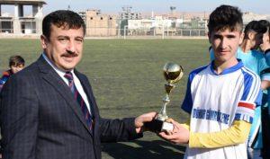 Nusaybin'de ortaokullar arası futbol turnuvası