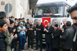 Ömerli'den Halep'e yardım