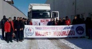 Mardin'den Halep'e 1 tır yardım