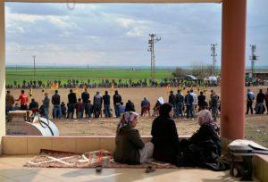 Suriye Sınırında Köylülerin Futbol Keyfi