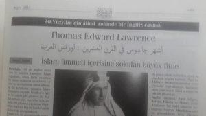 20.Yüzyılın Din Alimi Rolünde Bir İngiliz Casusu: Lawrence-1