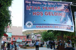 Mazıdağı'da 300 kişilik iftar çadırı