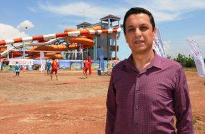 Mardin'de plaj voleybolu heyecanı