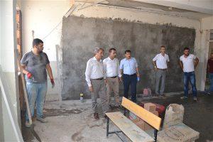 Okul inşaatlarına denetleme