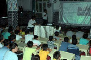 Kur'an kursu öğrencilerine trafik dersi verildi