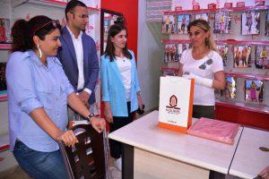 Kızıltepe belediyesinden esnaf kadınlara ziyaret