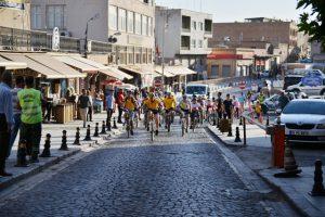 Tarihi kentte bisiklet yarışı