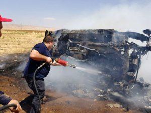 Kaza yapan otomobil yandı: 1 ölü, 1 yaralı