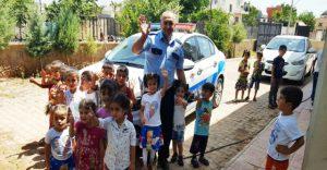 Midyat'ta Kuran kursu  öğrencilerine trafik eğitimi