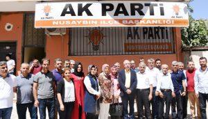 Miroğlu, Nusaybin'de parti yöneticileriyle buluştu