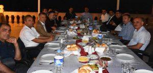 Vali Yardımcısı Ali İkram Tuna'ya veda yemeği