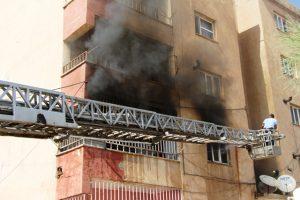 Nusaybin'de öğretmen lojmanında yangın