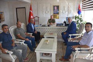Gazetecilerden Jandarma Komutanına Ziyaret