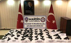 Kızıltepe'de  suikast silahları ele geçirildi