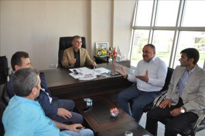 DEDAŞ'tan Kızıltepe hububat ticaret merkezine ziyaret