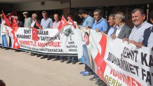 Kaymakam Safitürk'ü şehit eden saldırganlar protesto edildi